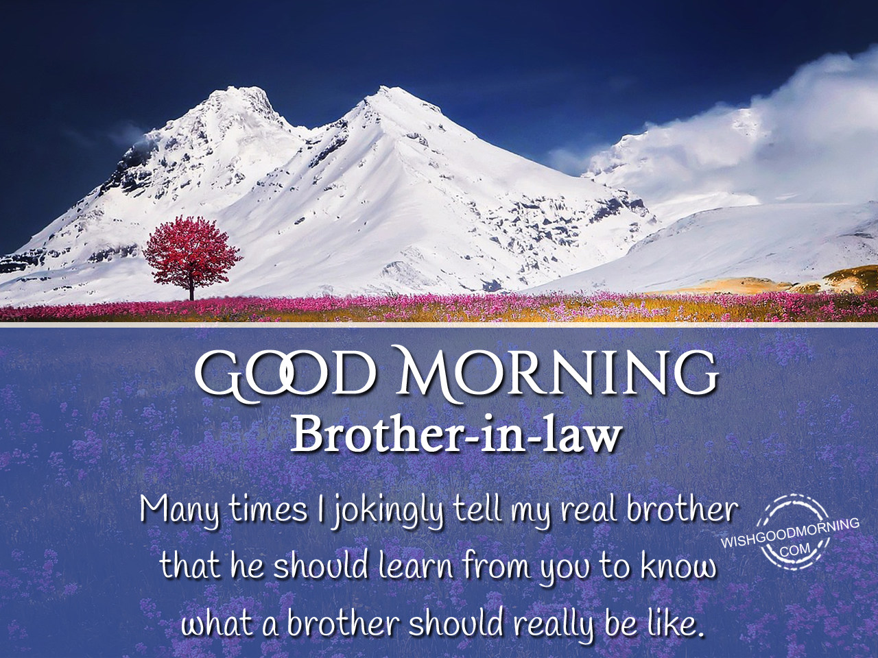 Good Morning Wishes For Brother-in-law - Good Morning