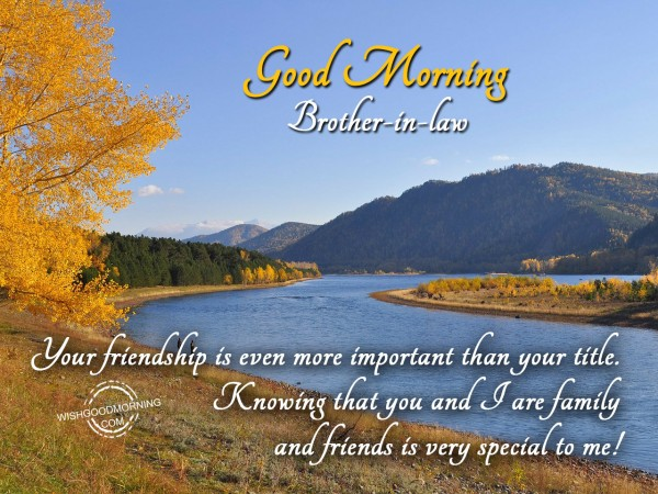 Your friendship special to me