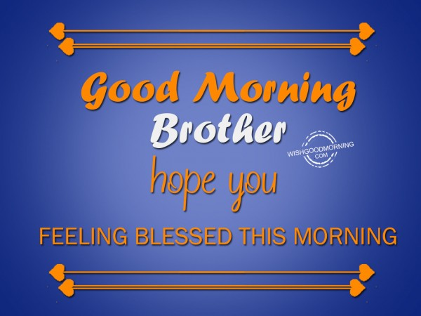 Hope you feeling blessed