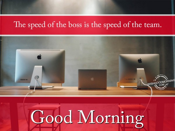 Speed of Boss is speed of team