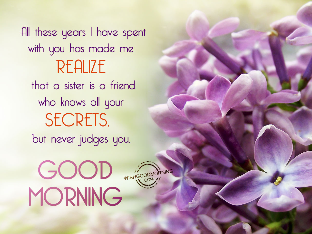 Good Morning Sisters Image : Good morning wishes for sister pictures