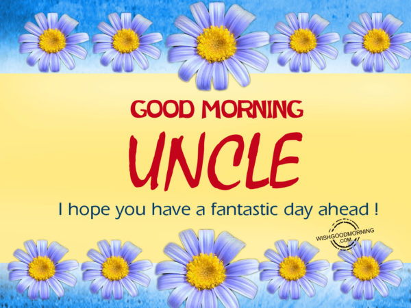 Good Morning Uncle,Hope you have a fantastic day ahead