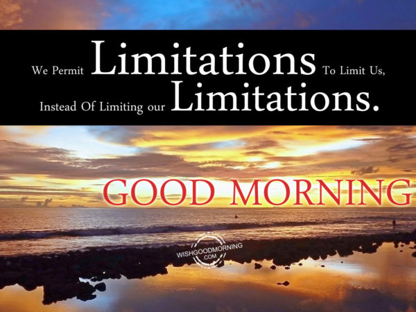 We Permit Limitations To Limits Us,