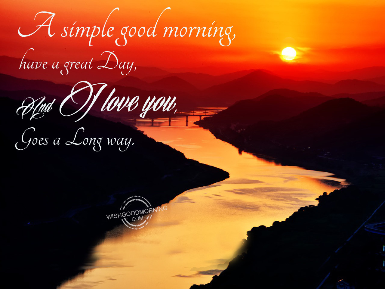 A Simple Good Morning Have A Great Day