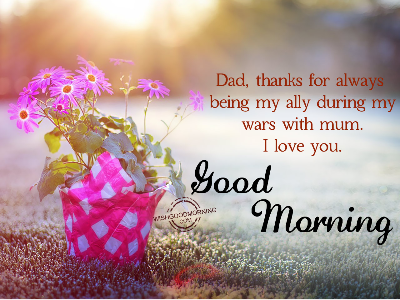 Good morning wishes for father good morning pictures dad thanks for always being my ally kristyandbryce Gallery
